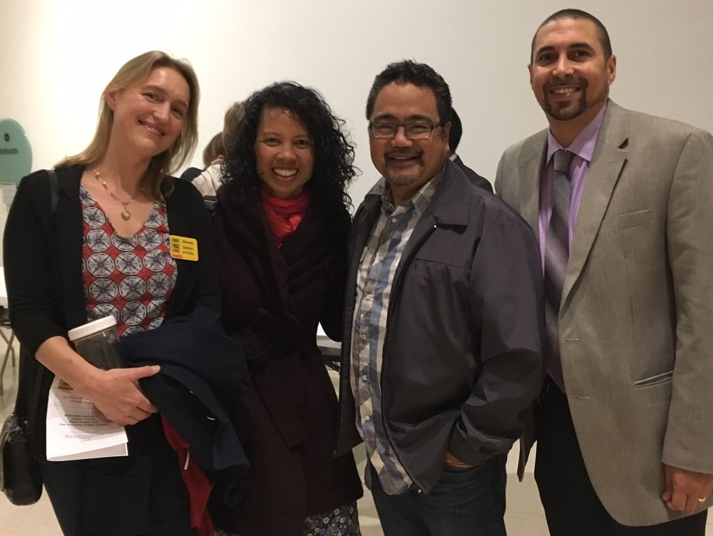 From left to right: PPS-SF Director of Policy, Miranda Martin with Board members Nancy Gnass, Bruce Reyes-Chow, and Darren Kawaii