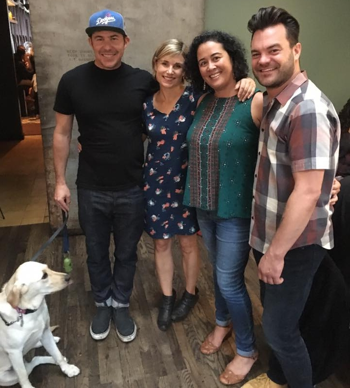 Pictured: Joe Hargrave, Tacolicous Founder & CEO; Sara Deseran, Tacolicous Marketing & Branding Director; Teresa Arriaga, PPS-SF Executive Director, and Kory Cogdill, PR & Community Manager. (Plus Joe's cute dog.)