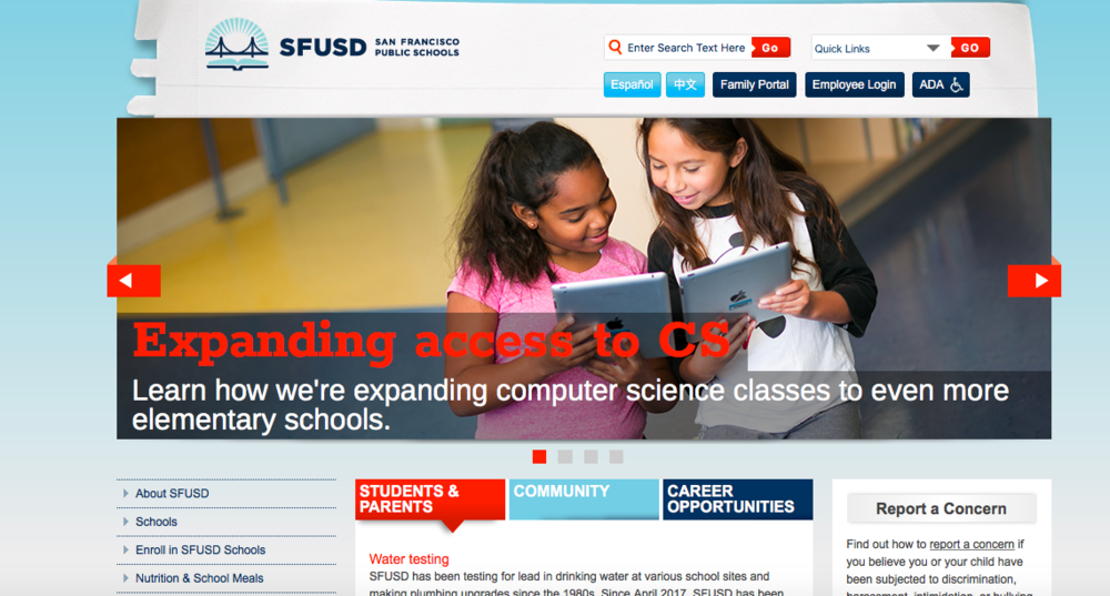 Go to sfusd.edu