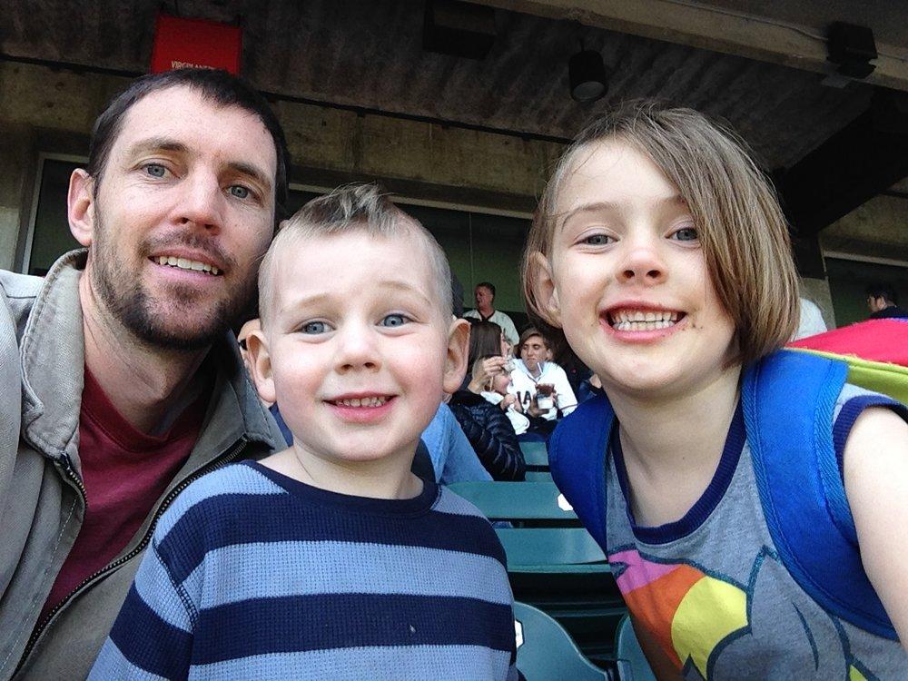Mc Allen (left) and his San Francisco kids!