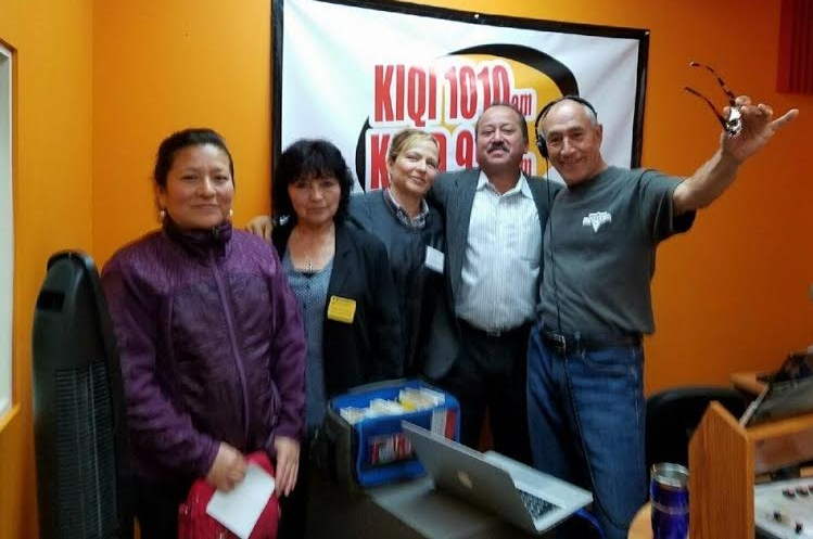 Daisy, 2nd from left, on KIQI Spanish radio last year.