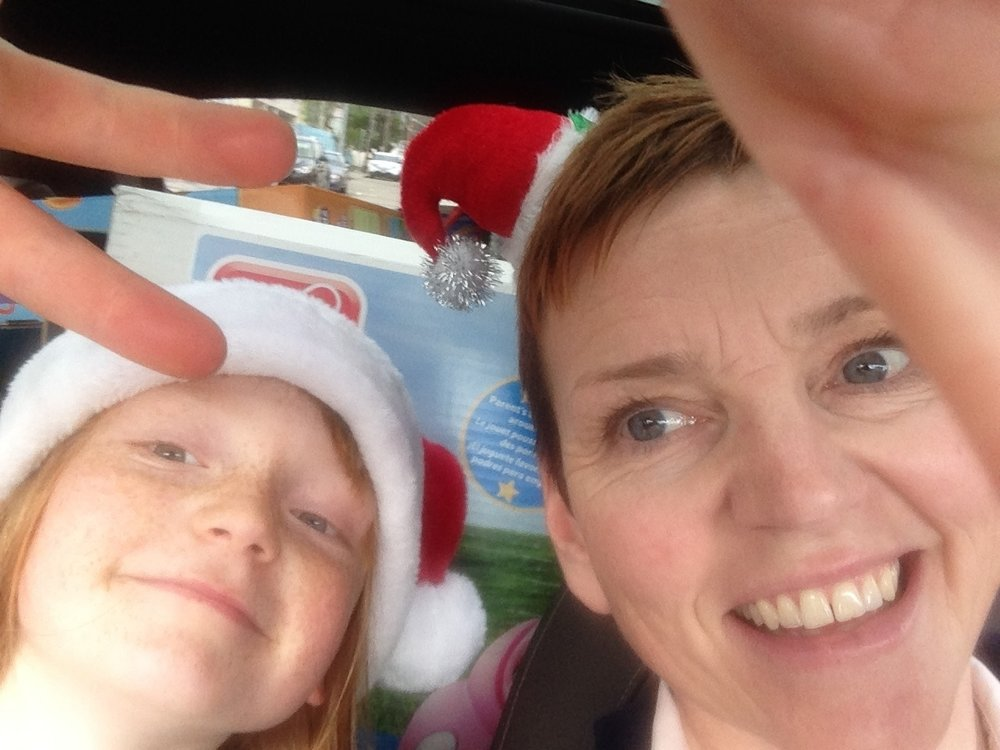 Kate and her daughter, Eliza, who is a big fan of any holiday and especially Christmas!