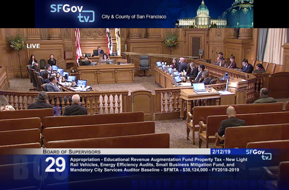 Board of Supervisors right after they voted unanimously to support spending excess ERAF funds on city priorities including funding to maintain teacher salaries and provide raises to early care educators