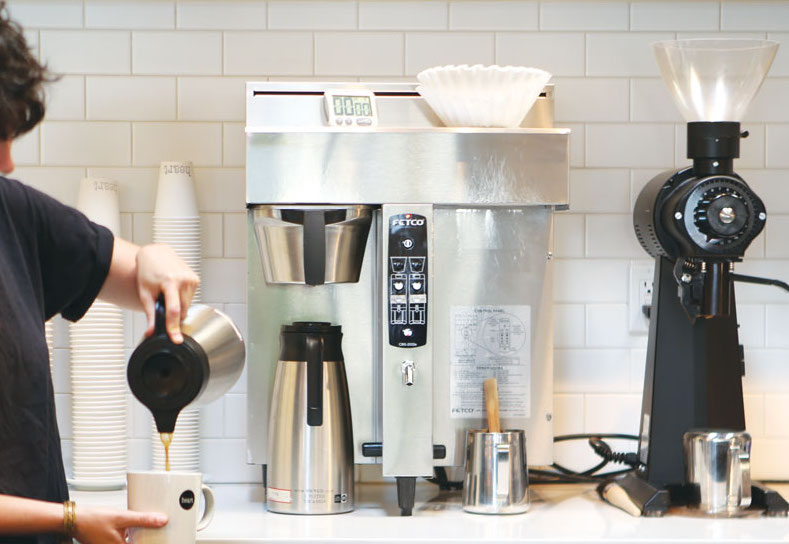 DRIP COFFEE  - Brewer*  - Decanters / pots  - Commercial coffee grinder(s)   *If your brewer is connected to a water line, you will need a water filtration system