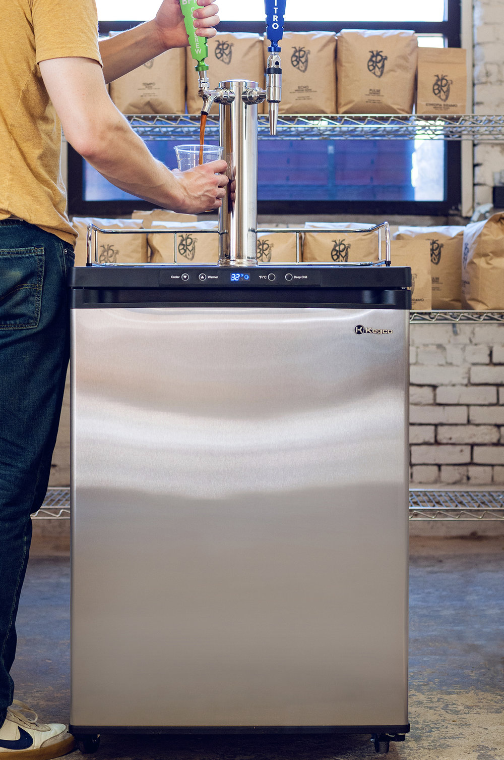 COLD BREW COFFEE OR TEA  - Specialized reusable brewing containers  - Filter system   If serving kegged cold brew on tap:   - Freestanding kegerator OR in-house tap system  - Nitrogen
