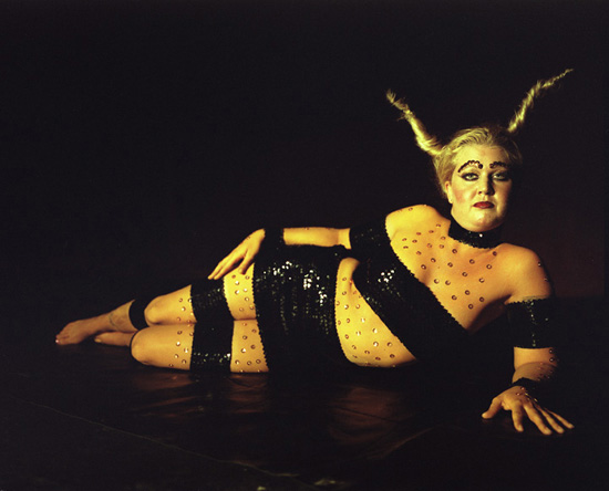 Jessica as Alice's caterpillar, New Orleans 2001