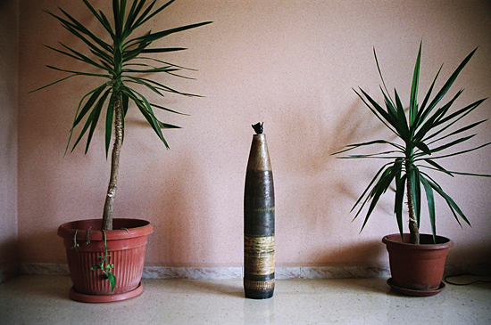Home décor. Cluster bomb ammunition. Lebanon, 2006