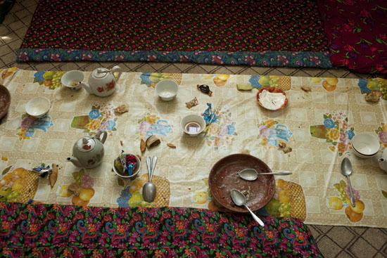 Pilgrimage meal, Turkmenistan 2009