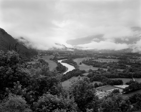 View over the Isonzo from Caporetto, Italy (now Slovenia), 2008 | Bonnell Robinson. Images courtesy of Rick Wester Fine Art