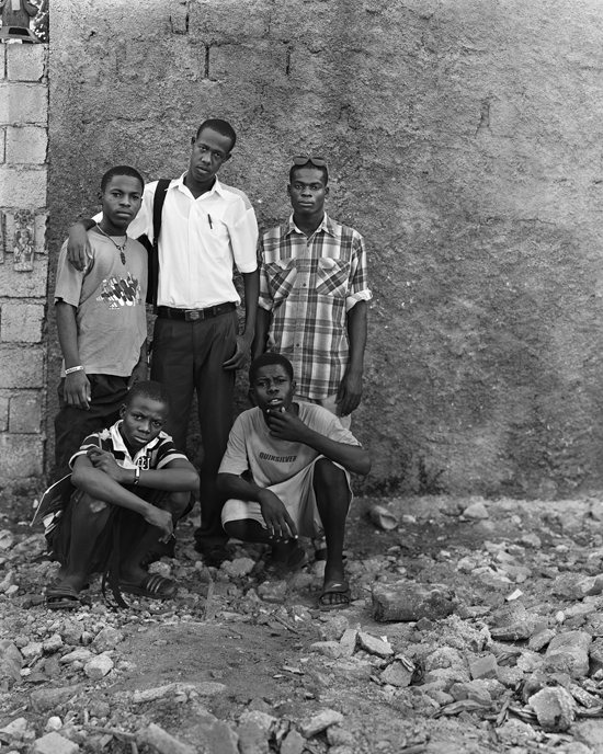 Timoun-Rezistans; Leonce Love, Alex Louis, Londel Innocent, Evans Richelieu, Makendy Louis, Grand Rue, November 2009
