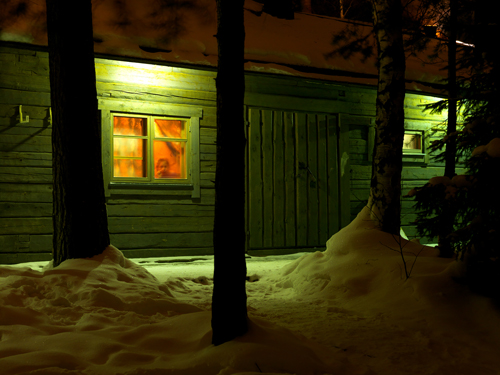 Jätkänkämppä sauna, Kuopio from the series Järvenjää/Lakeice, February 2012