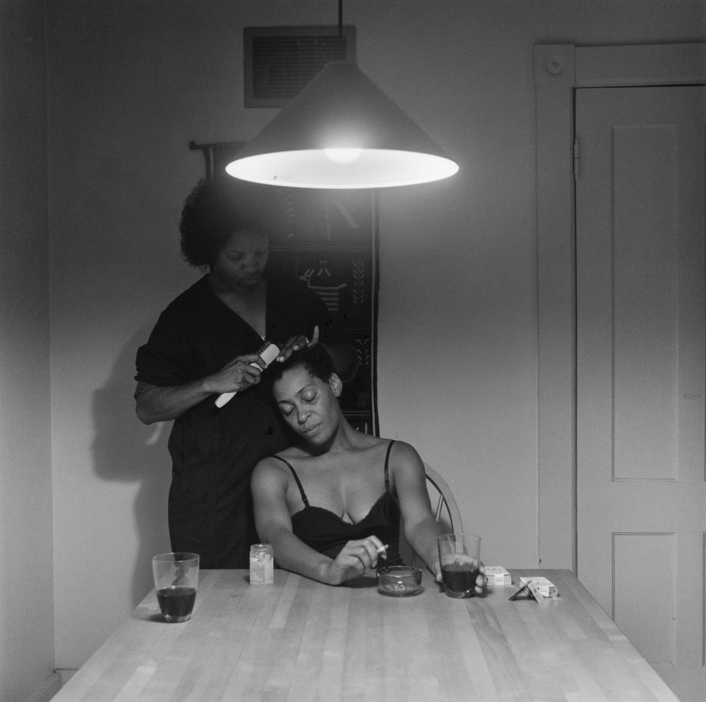 Untitled (Woman brushing hair), 1990