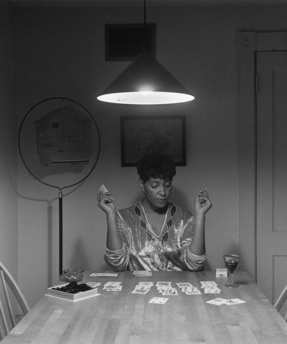 Untitled (Woman playing solitaire), 1990