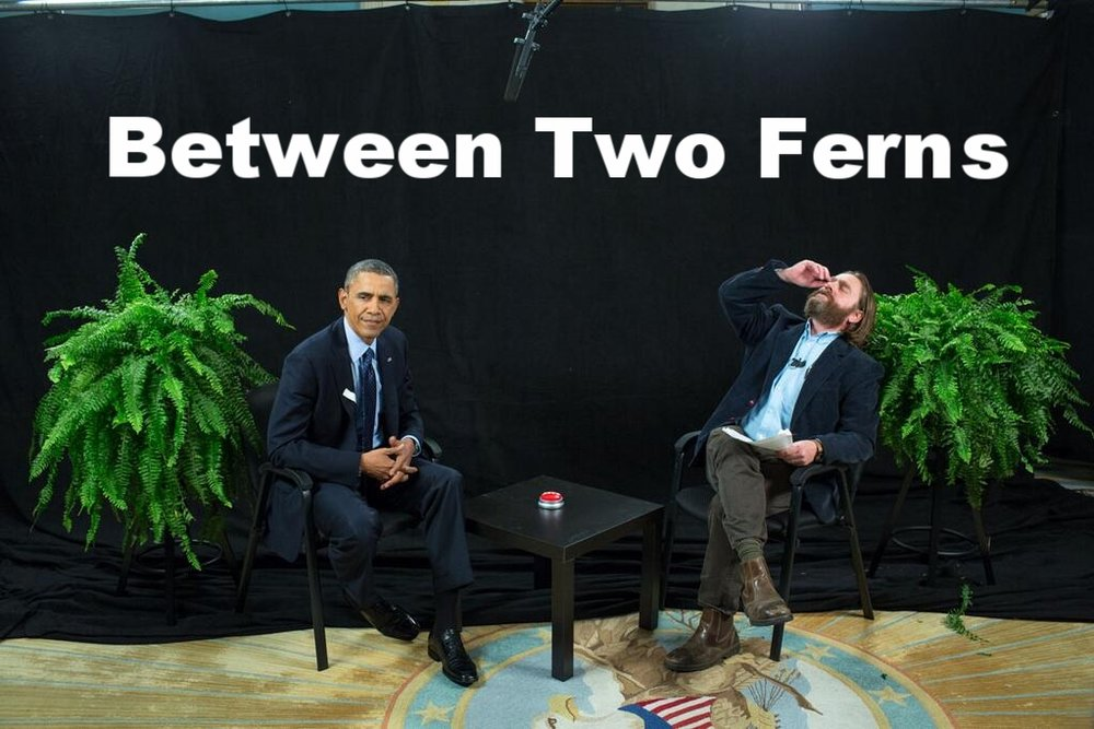 A truly amazing  interview.   Image source:https://upload.wikimedia.org/wikipedia/commons/a/ad/Barack_Obama_in_interview_with_Zach_Galifianakis.jpg