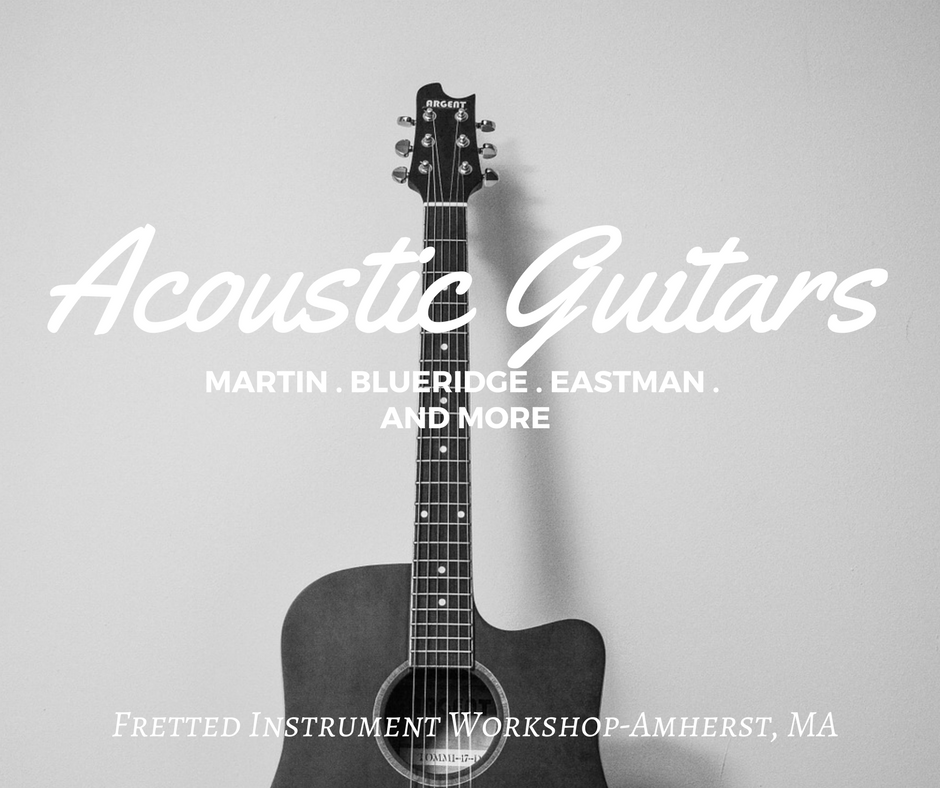 The best selection of acoustic guitars in Massachusetts at Fretted Instrument Workshop (Amherst)