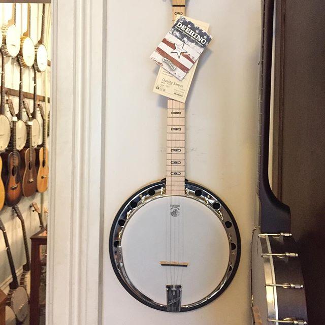 Everyone loves a banjo, right?! Deering Goodtime Banjo$540 #deering #deeringbanjos #goodtime #goodtimebanjo #pluckers #amherst #justplay #banjo #lettherebemusic #frettedinstrument #fretted #frettedinstrumentworkshop