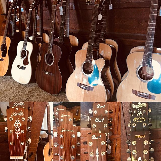 Plenty of new & used acoustic guitars throughout the store🎼🎼 ...#blueridge #eastman #yamaha #cort #martin #acousticguitars #amherst #pioneervalley #guitarcollector #martinguitar