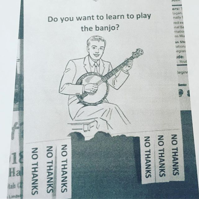 HUMOR FOR MONDAYS...For the record, we ❤️ us some #banjo.  #mondayhumor #banjoplayer #musiclovers #takeone