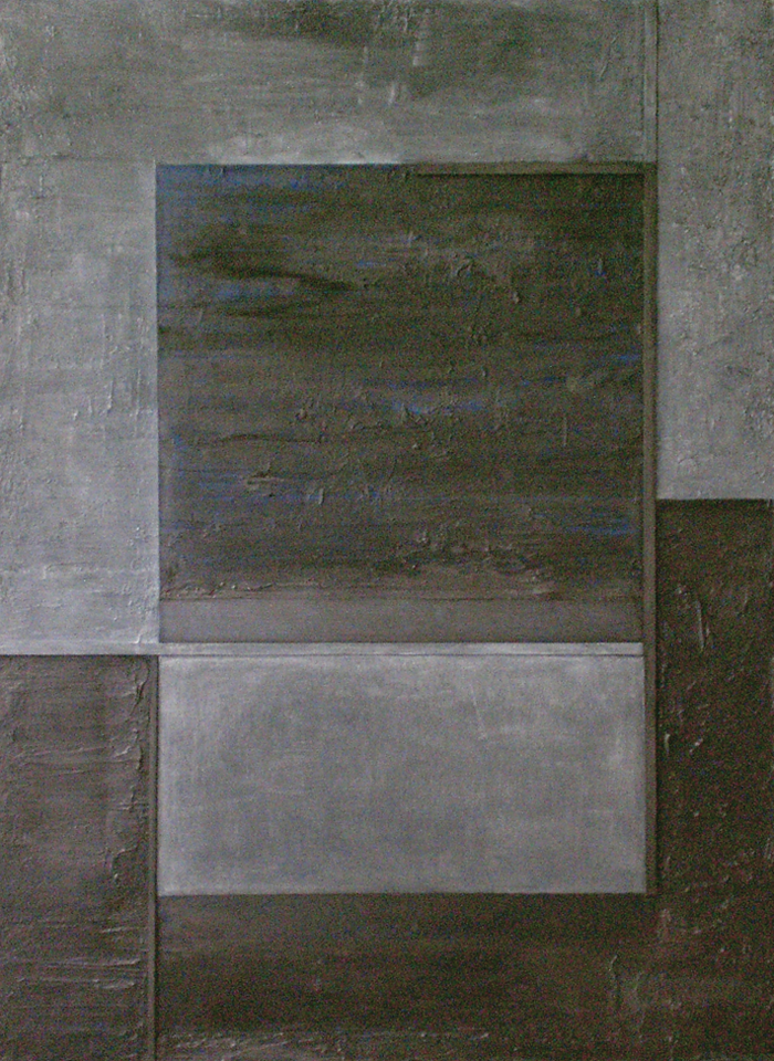 Open space, 2008  oil, mixed media on canvas  48x36""
