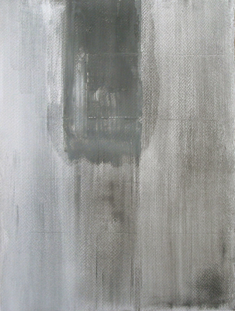 Vertical space, 2007 graphite on paper, 40x28""