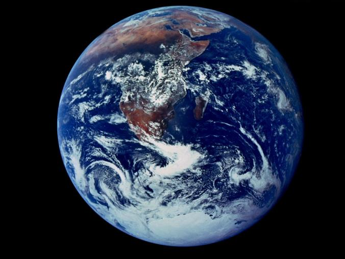 The Blue Planet…         Source:    National Geographic    – Courtesy of NASA Johnson Space Centre