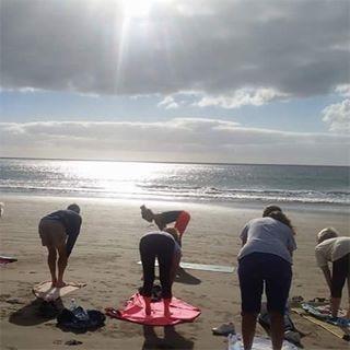 #spain2017 #canaryislands #beachyoga #soul Sunday#gratitude #yogi4life #yogateacher