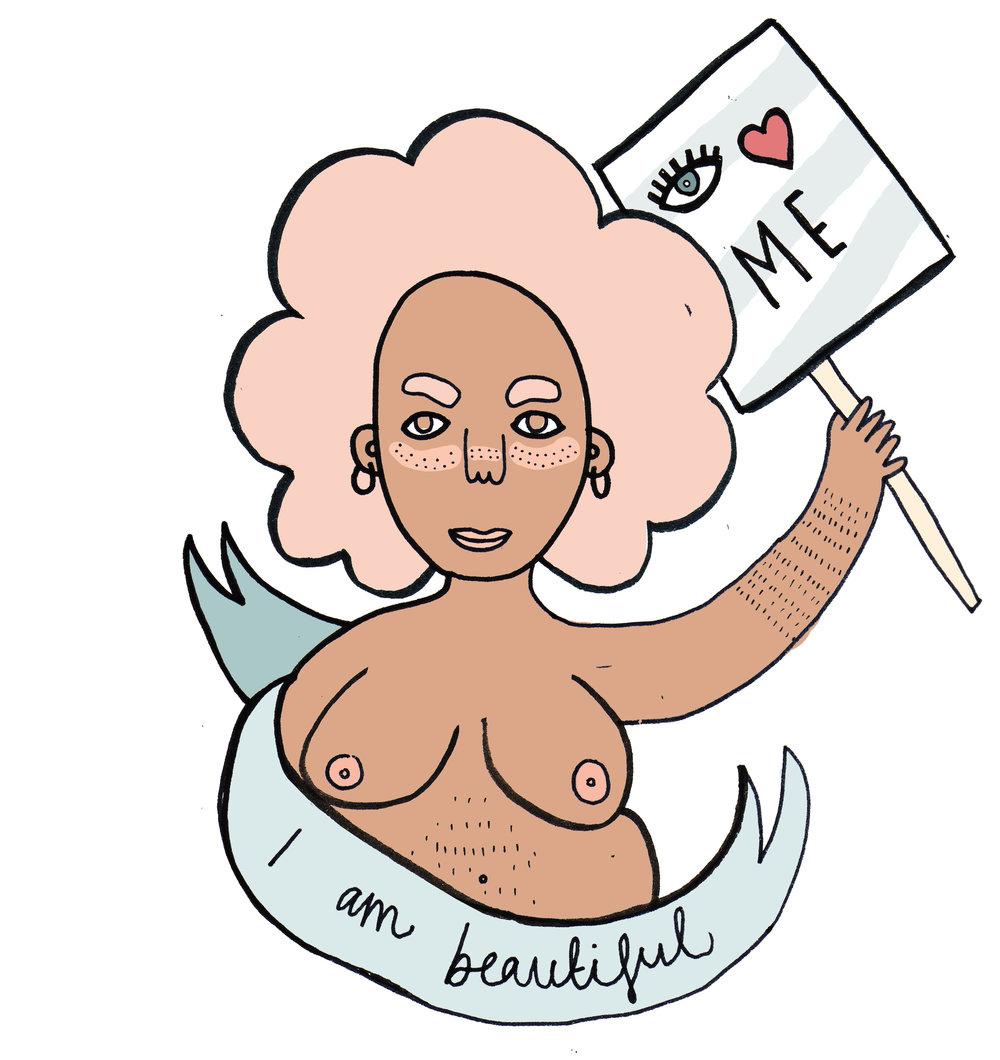 Bright Zine | Lauren Marina Illustration - I Am Beautiful.jpg