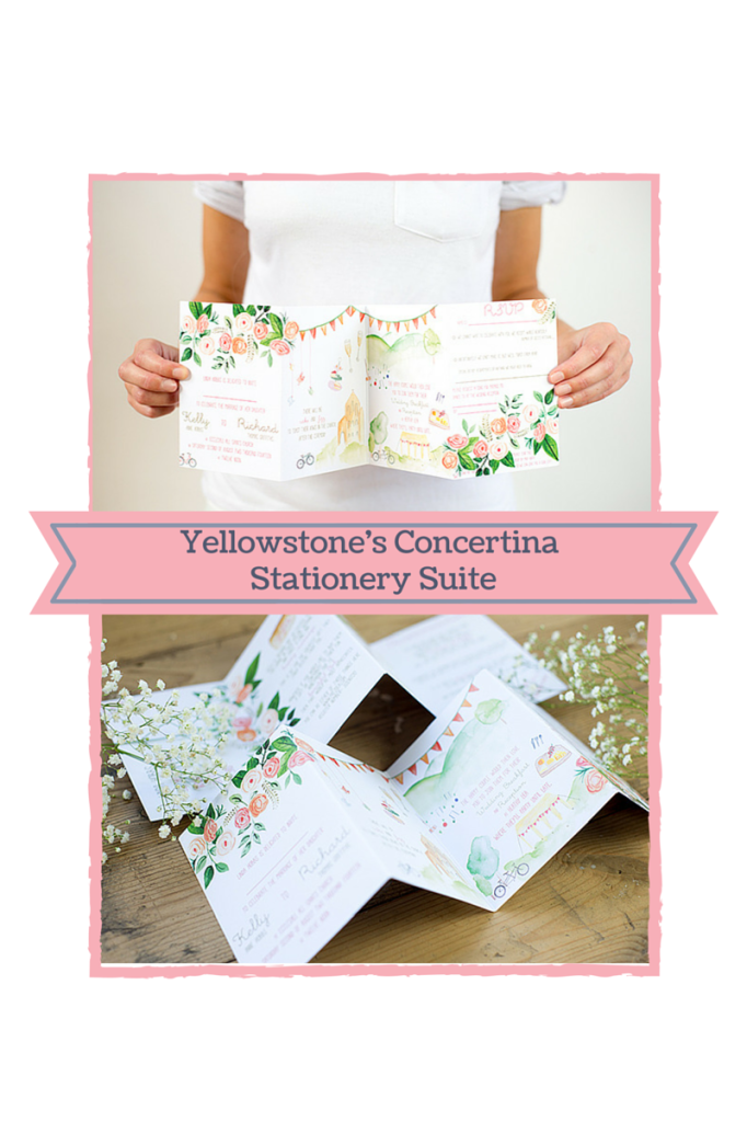 Yellowstone's Concertina wedding stationery suite