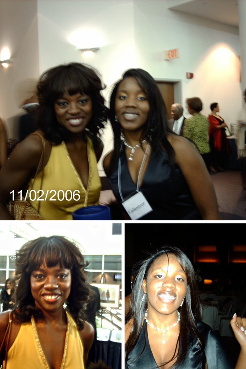 Me with Viola Davis..8 years ago!