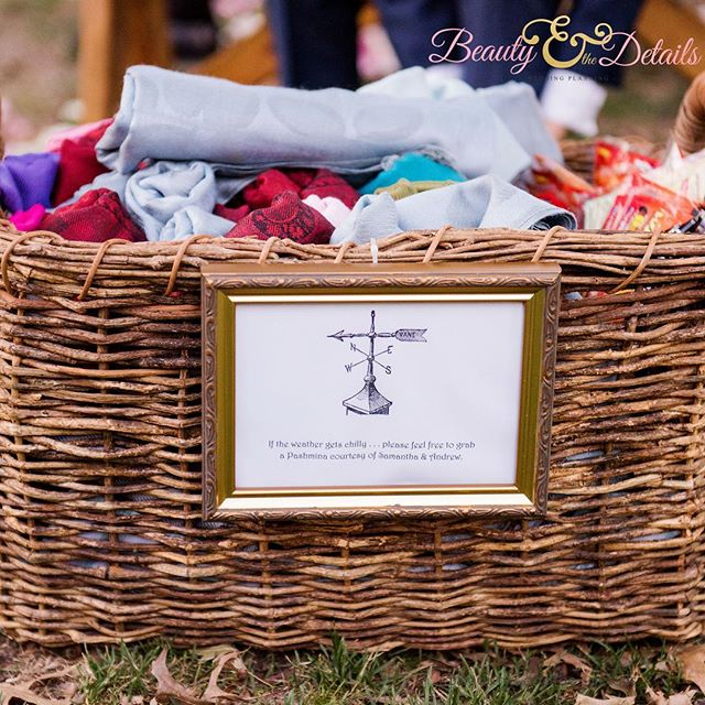 I know it's PinChe (#Pinterest + Cliche) but a basket of #Pashminas on a chilly wedding day will instantly warm your guests hearts and memories! So, take a note from #SamAndy and use it on your day! (Picture by @photopinknyc). . . . #2017Weddings #bride #bridetobe#wedding #weddings #bridal #weddinginspiration #weddingstyle #girlboss #weddingplanne r#nycweddingplanner #nyweddingplanner #nycweddings #nyweddings #destinationwedding #engaged #ido #bridetobe #groom