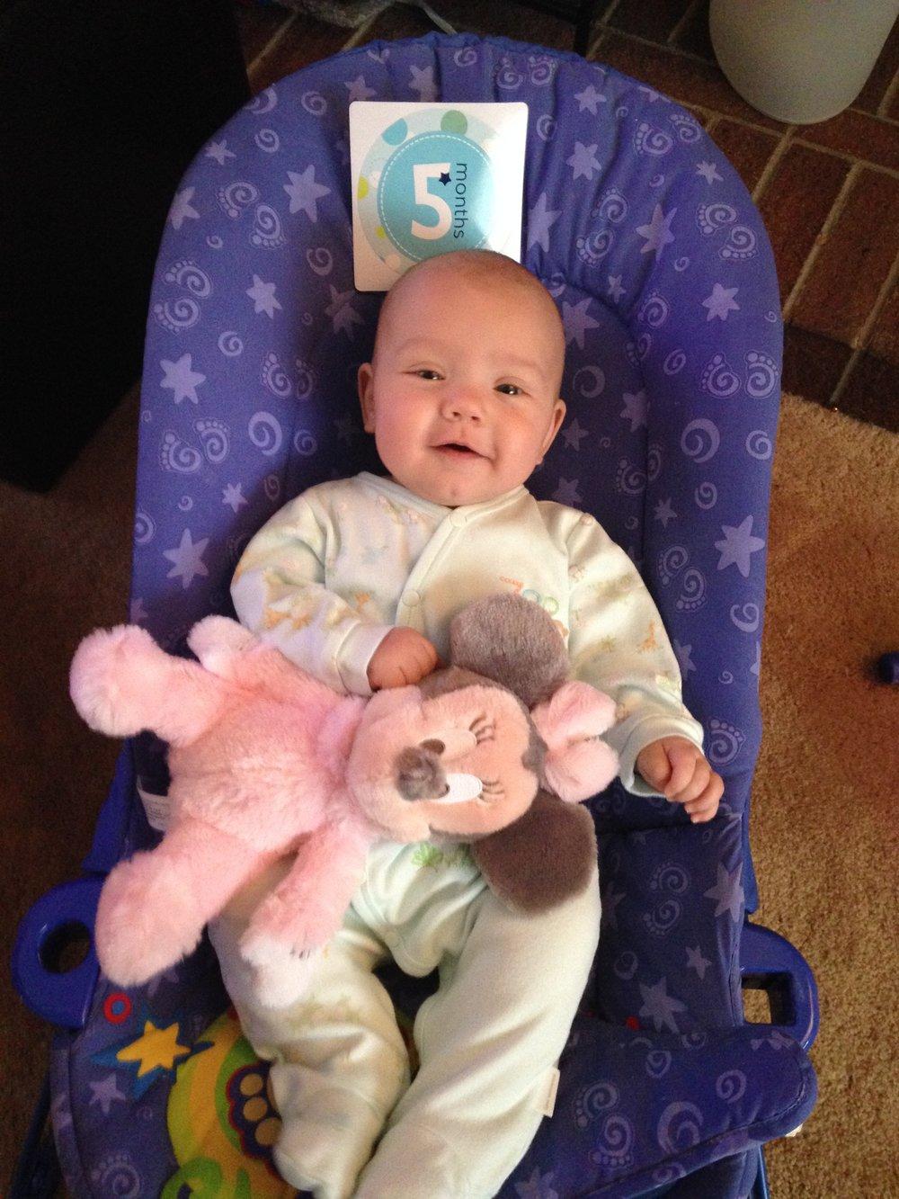 5 months smiley boy