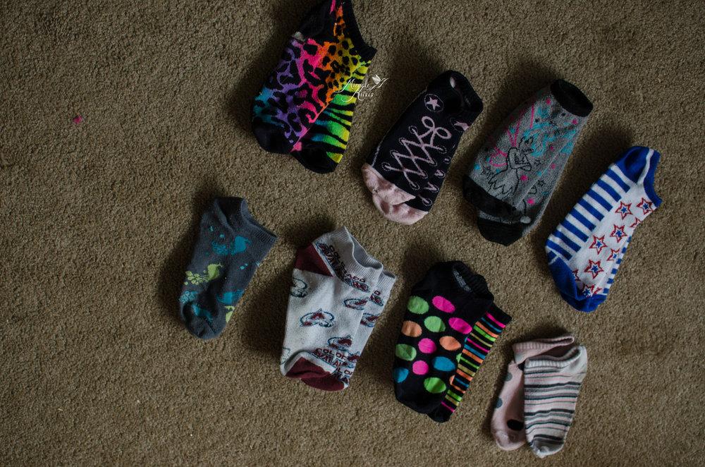 Imperfect, socks, mismatch