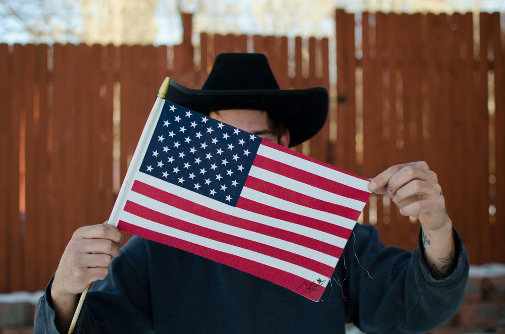 American flag, flag stands for freedom
