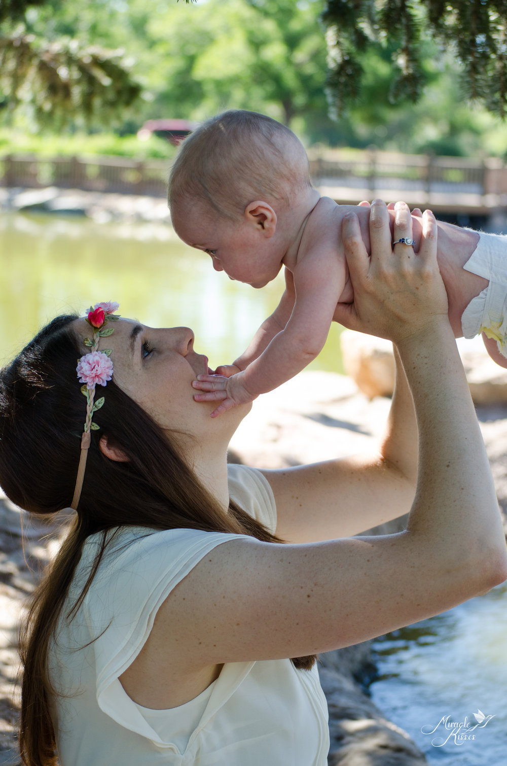 Playtime with mom, outdoor breastfeeding photo