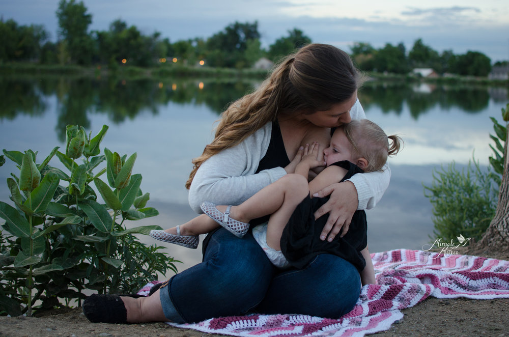 tandem nursing, normalize breastfeeding, lakewood sunset
