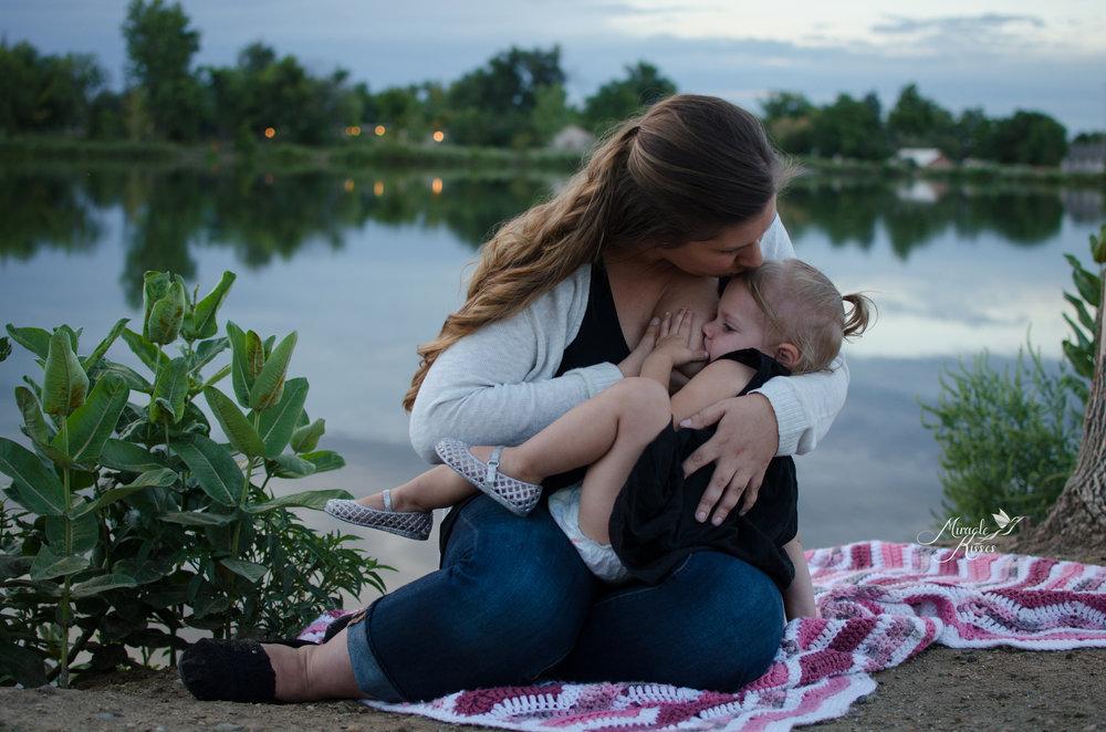 tandem nursing, normalize breastfeeding, lakewood sunset