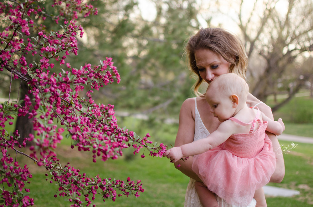 mommy and me, spring photography, breastfeeding story