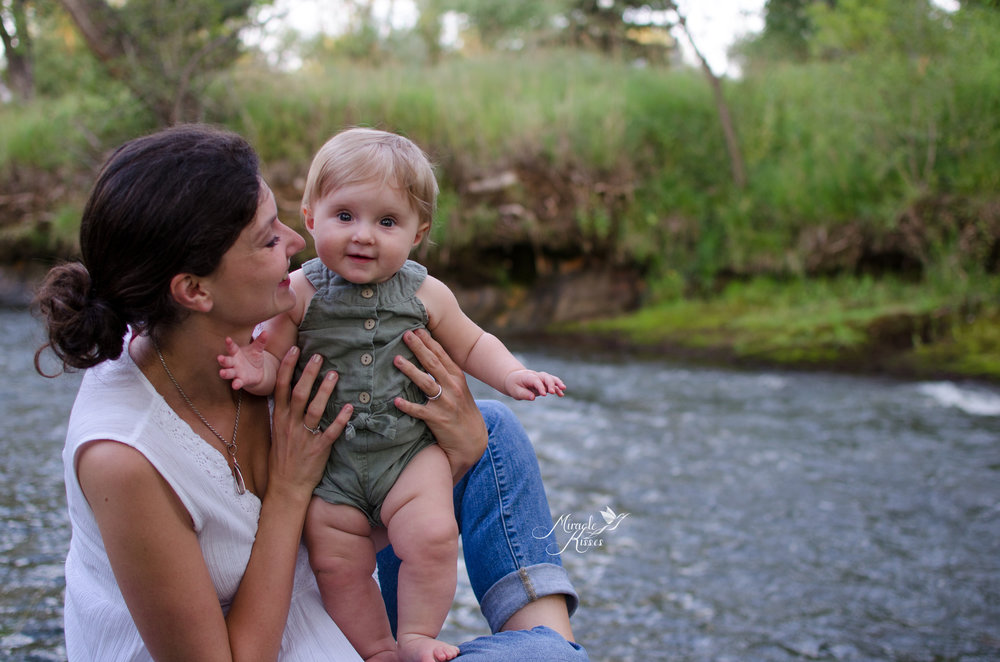 mommy and me by the lake, nature photography, smiley child photo
