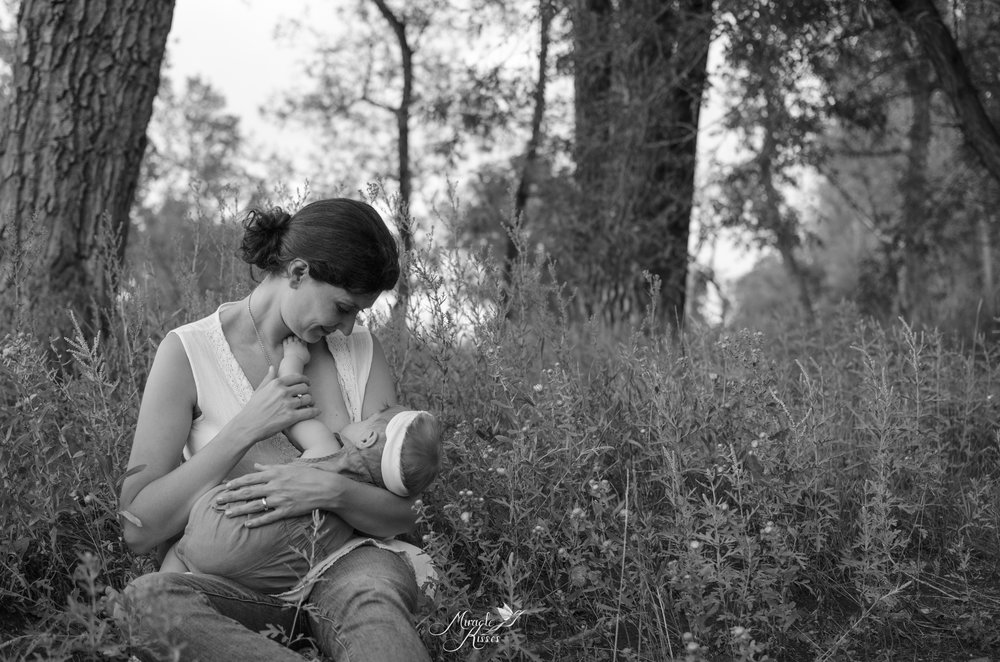 breastfeeding in public, black and white, miracle kisses