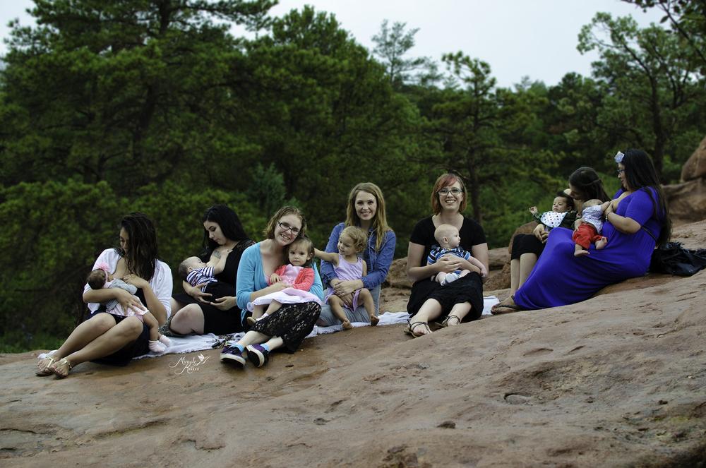 Normalize breastfeeding, colorado group breastfeeding photo, garden of the gods