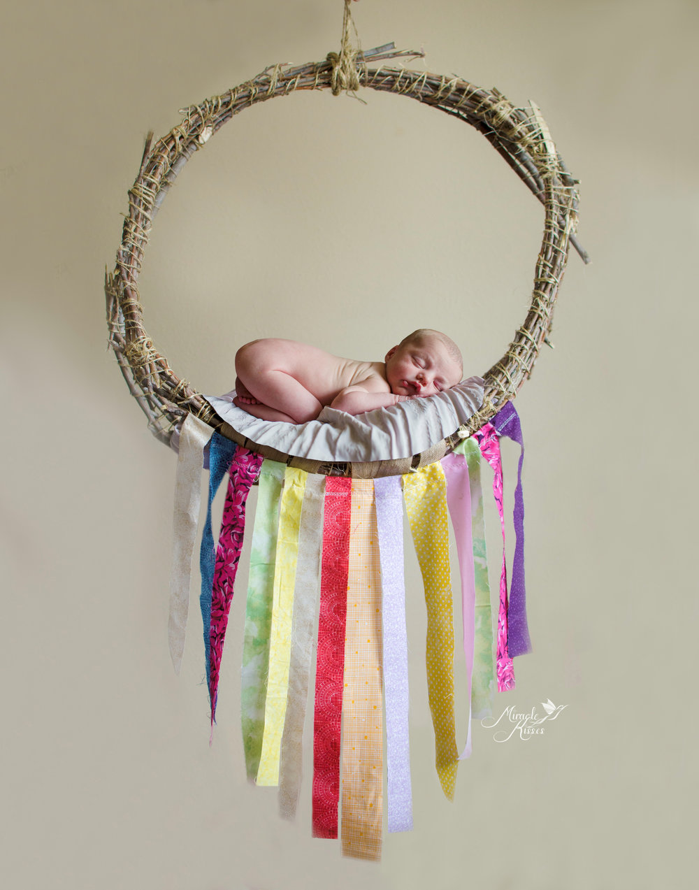 Dreamcatcher baby, colorado newborn photographer, miracle kisses