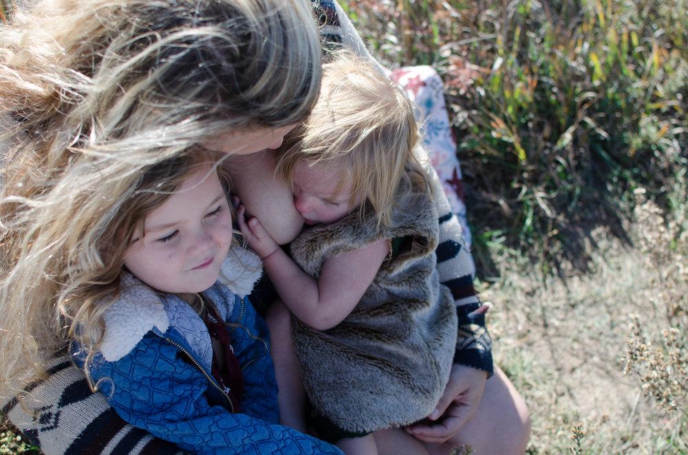 colorado breastfeeding photographer, nursing girls, miracle kisses
