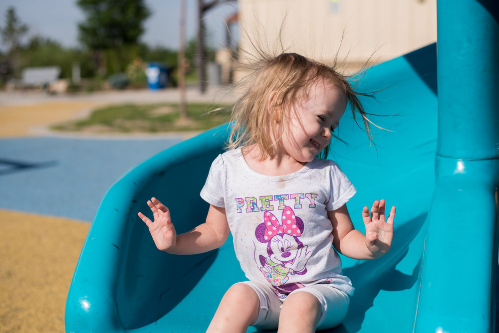 Slide, frizzy hair down care, the playground diaries