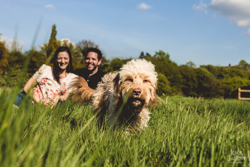 Pre-wedding Photos in Birmingham with Dog | Kate Jackson Wedding Photography