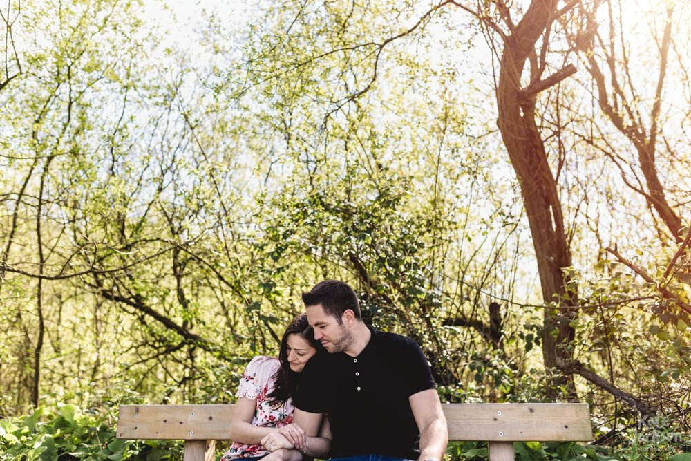 Romantic Spring Engagement Photography - Kingsbury Waterpark