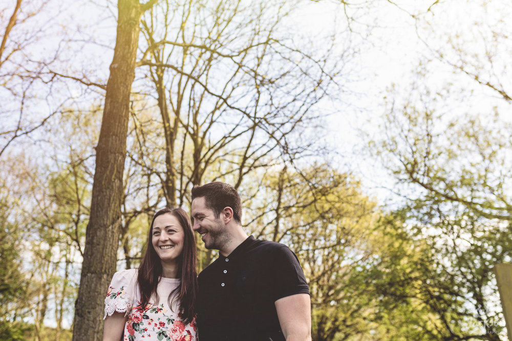 Quirky Couple Engagement Photos in the Woods - Kate Jackson Photography