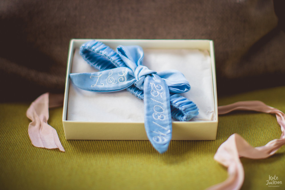 Daisy Sheldon Wedding Garter - Boho wedding at Blackfriars Priory Gloucester
