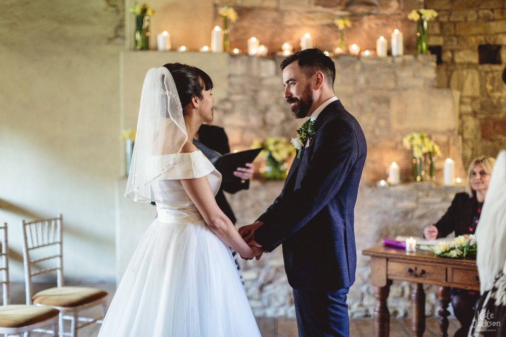 Wedding vows at quirky Blackfriars Priory Wedding