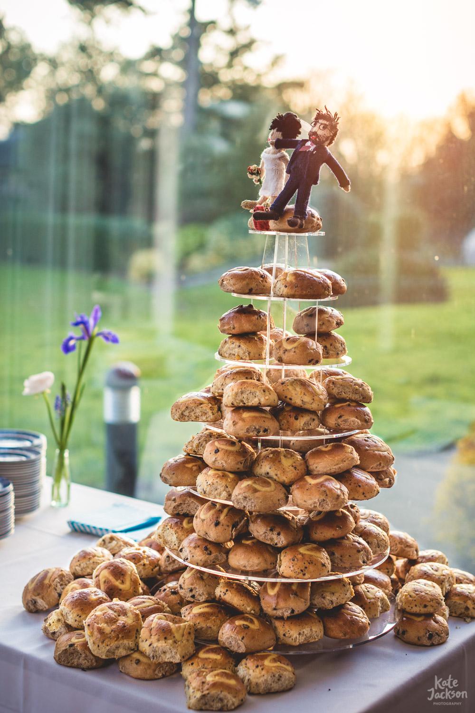 Alternative Easter Wedding Cake Ideas - Hot Cross buns from Loaf in Birmingham