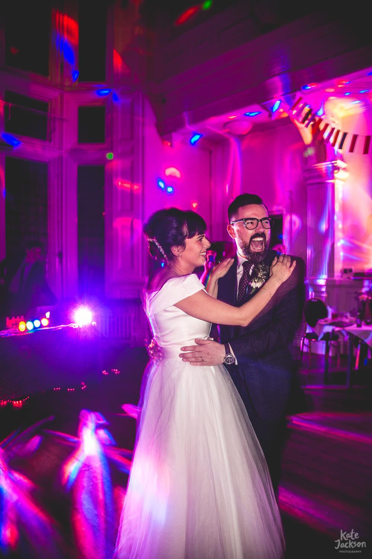 Fun Wedding Photos at the Bond Company